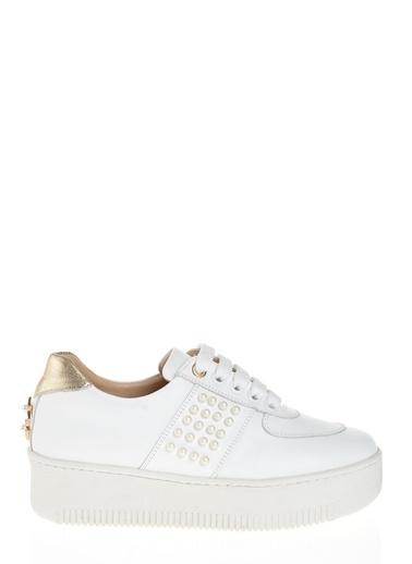 D by Divarese % 100 Deri Ayakkabı Beyaz